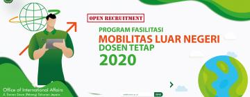 Fasilitasi Mobilitas Luar Negeri Dosen 2020
